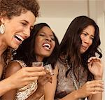 Women having strong drinks at party Stock Photo - Premium Royalty-Freenull, Code: 6113-06909177