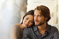 Couple hugging indoors Stock Photo - Premium Royalty-Freenull, Code: 6113-06909191