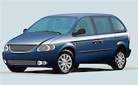 Isolated Graphic Illustration Of Modern Blue Minivan Stock Phot