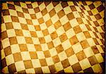 Checkered flag on grunge paper texture