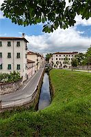 Lucca, Tuscany, Italy. Streets with canals Stock Photo - Royalty-Freenull, Code: 400-06919626