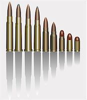 Vector Illustration Of Bullets. Isolated On White. Stock Photo - Royalty-Freenull, Code: 400-06922669