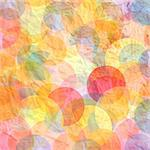 watercolor background on crumpled paper from the multi-colored circles