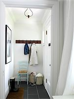 Muddroom - entryway to small spaces dwelling, Ontario, Canada Stock Photo - Premium Rights-Managednull, Code: 700-06935032