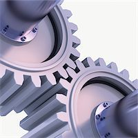 3D-Illustration of Gears on White Background Stock Photo - Premium Royalty-Freenull, Code: 600-06936139