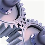 3D-Illustration of Gears on White Background Stock Photo - Premium Royalty-Free, Artist: Huber-Starke, Code: 600-06936139