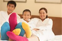 Family with Multi Colored Socks Stock Photo - Premium Royalty-Freenull, Code: 6116-06938709