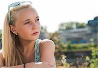 Portrait of Teenage Girl Outdoors, Mannheim, Baden-Wurttemberg, Germany Stock Photo - Premium Royalty-Freenull, Code: 600-06939785