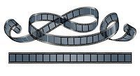 film strip - twisted film reel isolated on white background - eps10 vector illustration Stock Photo - Royalty-Freenull, Code: 400-06944822