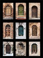 group of italian old doors Stock Photo - Royalty-Free, Artist: edella, Code: 400-06949754