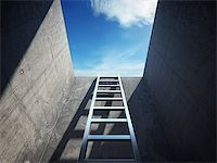 enki (artist) - Ladder leading up to the light Stock Photo - Royalty-Free, Artist: Enki, Code: 400-06950118