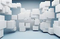 enki (artist) - Abstract geometric shapes of the cubes Stock Photo - Royalty-Freenull, Code: 400-06950130