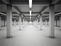 enki (artist) - Empty underground parking area Stock Photo - Royalty-Freenull, Code: 400-06950175