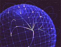 Network connections shaped globe, the concept of social media. Stock Photo - Royalty-Freenull, Code: 400-06951314