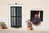 quaint house - House entrance and window, Sineu, Majorca, Spain Stock Photo - Premium Rights-Managednull, Code: 700-06961792