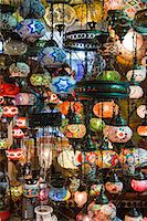 Turkey, Grand Baazar, Close up of colorful lamps Stock Photo - Premium Royalty-Freenull, Code: 640-06963076