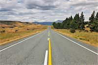 road landscape - Road, Te Anau, Southland, South Island, New Zealand Stock Photo - Premium Royalty-Freenull, Code: 600-06964231