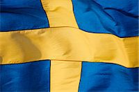 stockholm - Swedish flag, close-up Stock Photo - Premium Royalty-Freenull, Code: 6102-06965606