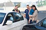 Car accident scene Stock Photo - Premium Royalty-Freenull, Code: 614-06973601
