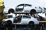 Cars stacked in scrap yard Stock Photo - Premium Royalty-Freenull, Code: 614-06974123