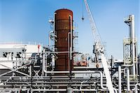 pipe (industry) - Storage tanks of oil refinery Stock Photo - Premium Royalty-Freenull, Code: 614-06974154