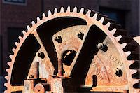 Close up detail of rusting cogwheel Stock Photo - Premium Royalty-Freenull, Code: 614-06974242
