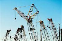 Group of construction cranes Stock Photo - Premium Royalty-Freenull, Code: 614-06974248