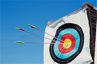 Archery target with arrows Stock Photo - Premium Royalty-Freenull, Code: 6106-06980367