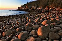 USA, Maine, Acadia National Park, Otter Cliffs and beach at sunrise Stock Photo - Premium Royalty-Freenull, Code: 6106-06981947