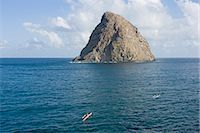 french polynesia - French Polynesia, Hiva Oa Island, Hanaiapa Bay, rock sticking out from water Stock Photo - Premium Royalty-Freenull, Code: 6106-06982353