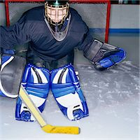 Ice Hockey Goalie Stock Photo - Premium Royalty-Freenull, Code: 6106-06991263