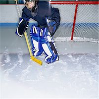Ice Hockey Goalie Stock Photo - Premium Royalty-Freenull, Code: 6106-06991268