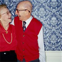 Elderly Couple Smiling, Face to Face Stock Photo - Premium Royalty-Freenull, Code: 6106-06991306