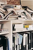 Large Group of Documents, Ring Binders and Books on Shelving in an Office Stock Photo - Premium Royalty-Freenull, Code: 6106-06997568