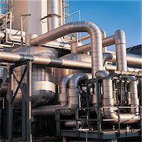refinery - Low Section View of Pipelines in an Oil Refinery Stock Photo - Premium Royalty-Freenull, Code: 6106-07000324