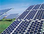 Solar Panels in a Line, Rheinland-Pfalz, Germany