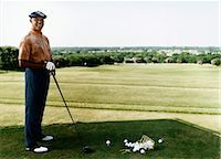 Portrait of a Senior Golfer at a Golf Course Stock Photo - Premium Royalty-Freenull, Code: 6106-07005109