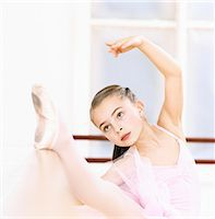 Young, Female Ballet Dancer Practicing in a Dance Studio Stock Photo - Premium Royalty-Freenull, Code: 6106-07009529