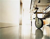 Low Section of a Trolley in a Hospital Corridor Stock Photo - Premium Royalty-Freenull, Code: 6106-07009807
