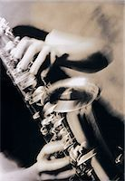 Saxophone being played Stock Photo - Premium Royalty-Freenull, Code: 6106-07011189