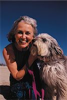 Portrait of woman and dog Stock Photo - Premium Royalty-Freenull, Code: 6106-07011737