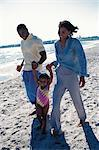Family walking along beach Stock Photo - Premium Royalty-Freenull, Code: 6106-07012403