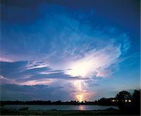 Lightning at night Stock Photo - Premium Royalty-Freenull, Code: 6106-07014341