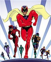 superhero - Super Hero Team Stock Photo - Premium Royalty-Freenull, Code: 6106-07015772