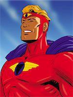 superhero - Proud Super Hero Stock Photo - Premium Royalty-Freenull, Code: 6106-07015792