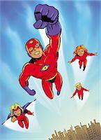 superhero - Young Super Hero Group Stock Photo - Premium Royalty-Freenull, Code: 6106-07015804