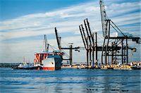ships at sea - Industrial Harbor Stock Photo - Premium Royalty-Freenull, Code: 6106-07015853