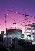 Construction Site at Twilight Stock Photo - Premium Royalty-Freenull, Code: 6106-07019562