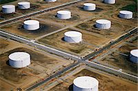 refinery - Field of oil tanks Stock Photo - Premium Royalty-Freenull, Code: 6106-07021279