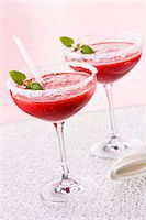 Strawberry Margaritas with a sugar rim Stock Photo - Premium Royalty-Freenull, Code: 659-07028141